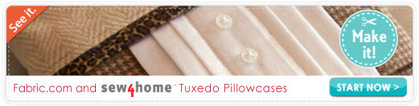 Sew4home Tuxedo Pillow Cases